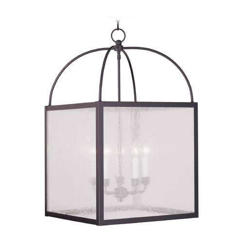 Livex Lighting Livex Lighting Milford Bronze Pendant Light with Square Shade 4058-07