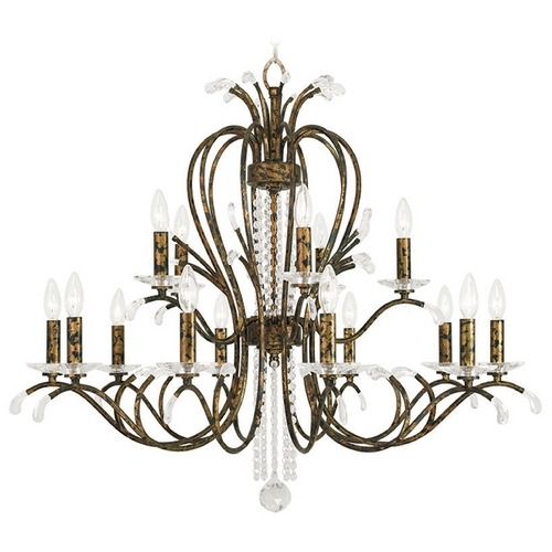 Livex Lighting Livex Lighting Serafina Hand Applied Venetian Golden Bronze Crystal Chandelier 51009-71