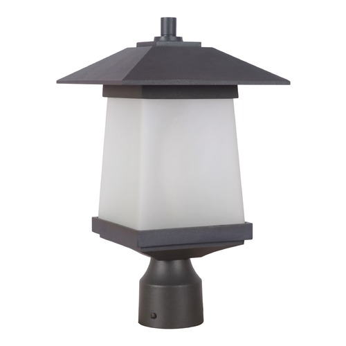 Craftmade Lighting Craftmade Lighting Terrace Textured Black/whiskey Barrel Post Lighting Z2015-14-NRG