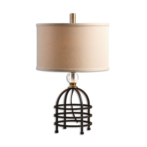Uttermost Lighting Uttermost Ladonia Rust Black Table Lamp 29183-1
