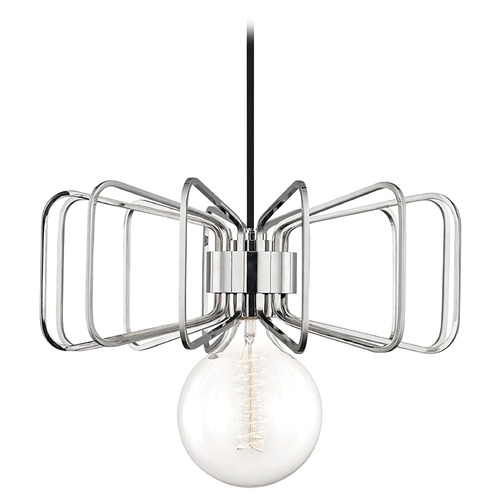 Mitzi by Hudson Valley Mid-Century Modern Pendant Light Polished Nickel Mitzi Daisy by Hudson Valley H132701-PN