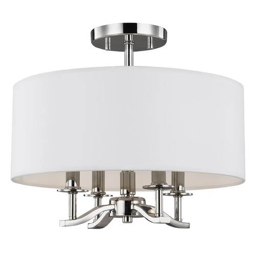 Sea Gull Lighting Sea Gull Lighting Hewitt Polished Nickel Semi-Flushmount Light SF349PN