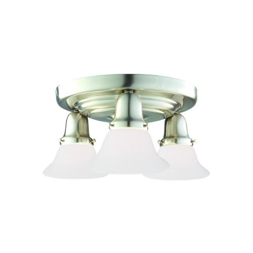 Hudson Valley Lighting Semi-Flushmount Light with White Glass in Polished Nickel Finish 587-PN-415
