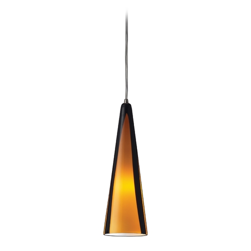 Elk Lighting Modern Mini-Pendant Light with Brown Glass 545-1SAH