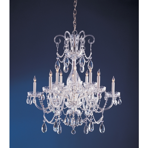 Crystorama Lighting Crystal Chandelier in Polished Chrome Finish 1035-CH-CL-SAQ