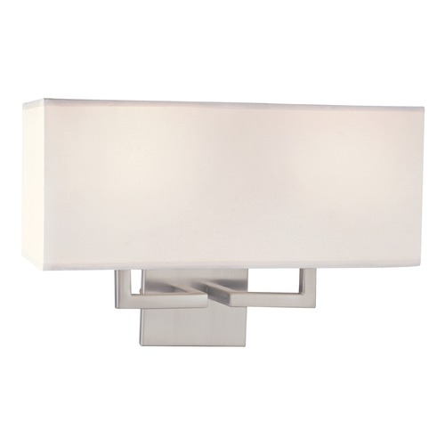George Kovacs Lighting Two-Light Sconce with White Linen Shade P472-084