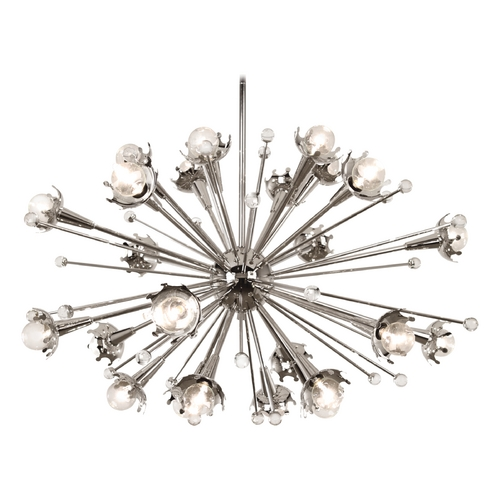 Robert Abbey Lighting Mid-Century Modern Chandelier Polished Nickel Jonathan Adler Sputnik Robert Abbey S710
