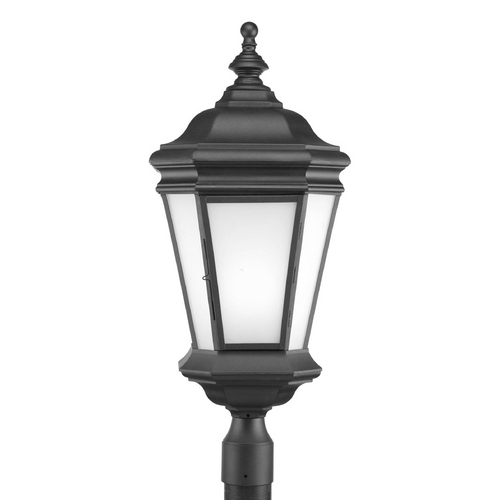Progress Lighting Post Light with White Glass in Black Finish P6419-31