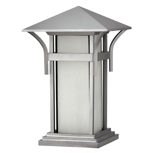 Hinkley Lighting Pier Light with White Glass in Titanium Finish 2576TT