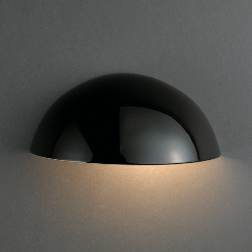 Justice Design Group Outdoor Wall Light in Gloss Black Finish CER-1300W-BLK