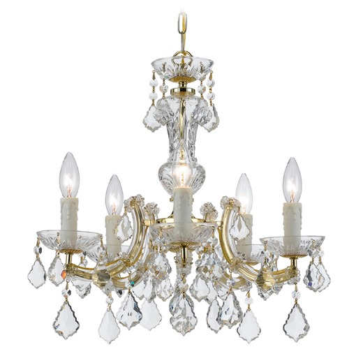 Crystorama Lighting Crystorama Lighting Maria Theresa Gold Crystal Chandelier 4376-GD-CL-S
