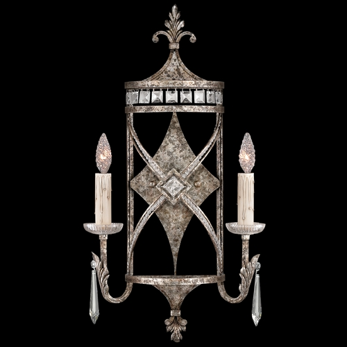 Fine Art Lamps Fine Art Lamps Winter Palace Antiqued Silver Sconce 323550ST
