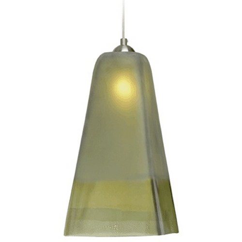 Oggetti Lighting Oggetti Lighting San Marco Satin Nickel Mini-Pendant Light with Square Shade 29-L3102N