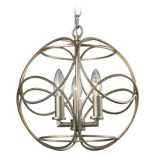 Elk Lighting Elk Lighting Chandette Aged Silver Pendant Light 31801/3