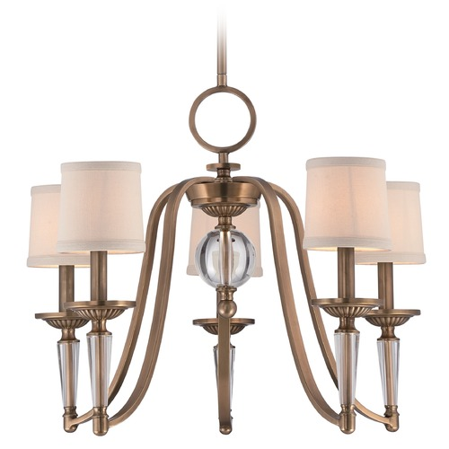 Quoizel Lighting Quoizel Uptown Empire Weathered Brass Chandelier UPEP5005WS