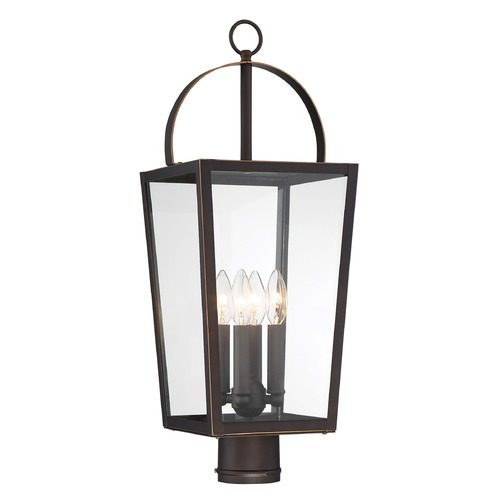 Minka Lavery Minka Lavery Rangeline Oil Rubbed Bronze with Gold Highlights Post Light 72726-143C