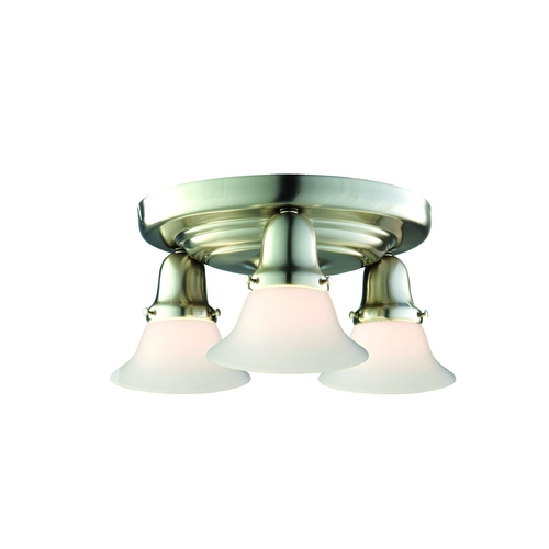 Hudson Valley Lighting Semi-Flushmount Light with White Glass in Polished Nickel Finish 587-PN-415M