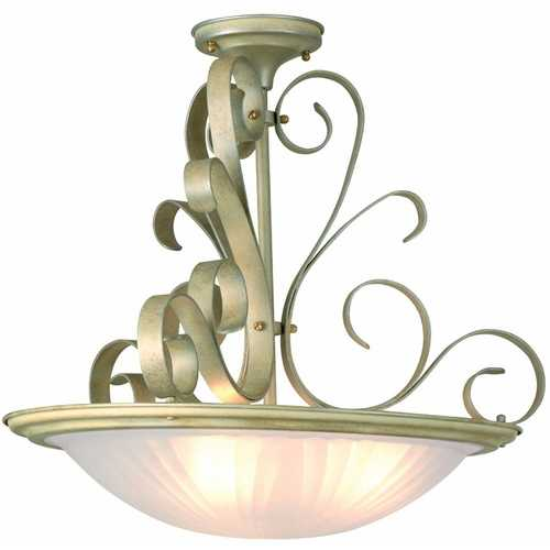 Lite Source Lighting Lite Source Lighting Variance Semi-Flushmount Light LS-1052PEARL