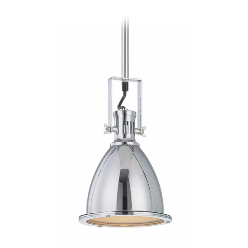Lite Source Lighting Lite Source Lighting Kartik Chrome Mini-Pendant Light with Bell Shade LS-19976C