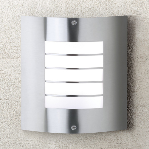 Kichler Lighting Kichler Modern Outdoor Wall Light in Brushed Nickel Finish 6040NI