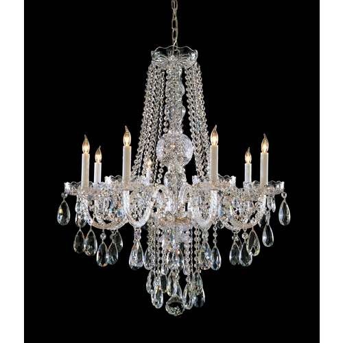 Crystorama Lighting Crystal Chandelier in Polished Brass Finish 1108-PB-CL-MWP
