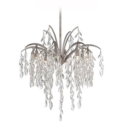 Metropolitan Lighting Minka Bella Flora Silver Mist Pendant Light N6868-278