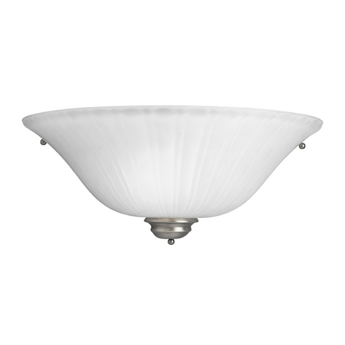 Progress Lighting Progress Sconce Wall Light with White Glass in Antique Nickel Finish P7122-81