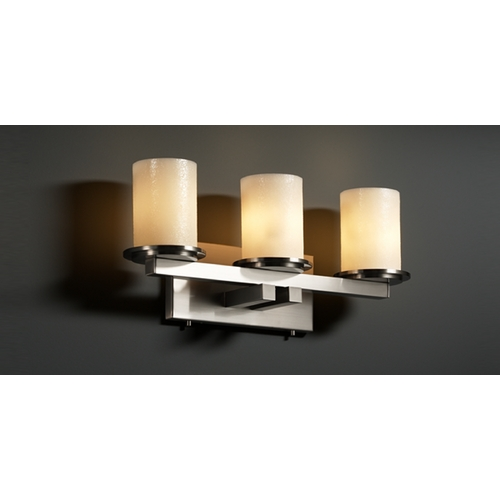 Justice Design Group Justice Design Group Candlearia Collection Bathroom Light CNDL-8773-10-CREM-NCKL