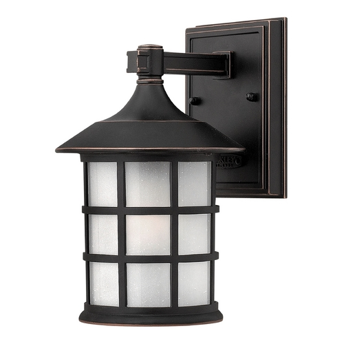 Hinkley Lighting Etched Seeded Glass Outdoor Wall Light Bronze Hinkley Lighting 1800OP-GU24