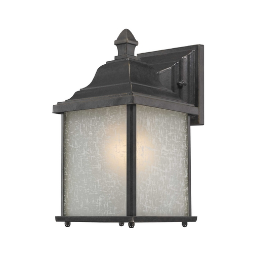 Dolan Designs Lighting Outdoor Wall Light with White Linen Glass - 10-1/2 Inches Tall 931-68