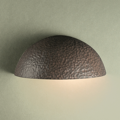 Justice Design Group Outdoor Wall Light in Hammered Iron Finish CER-1300W-HMIR