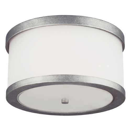 Sea Gull Lighting Sea Gull Lighting Bucktown Weathered Pewter Close To Ceiling Light 7822402-57