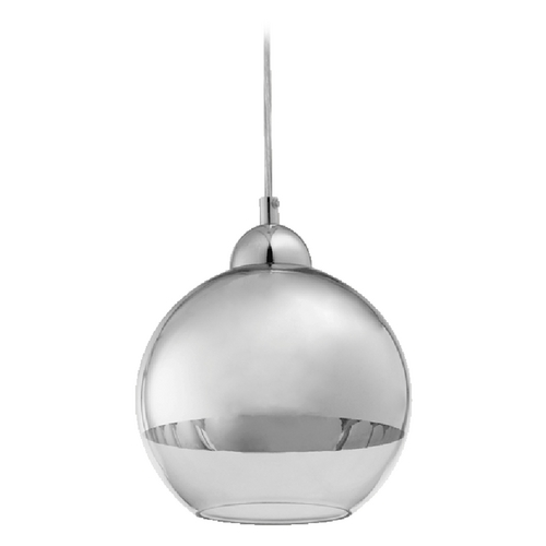 Quorum Lighting Quorum Lighting Chrome Mini-Pendant Light with Globe Shade 811-14