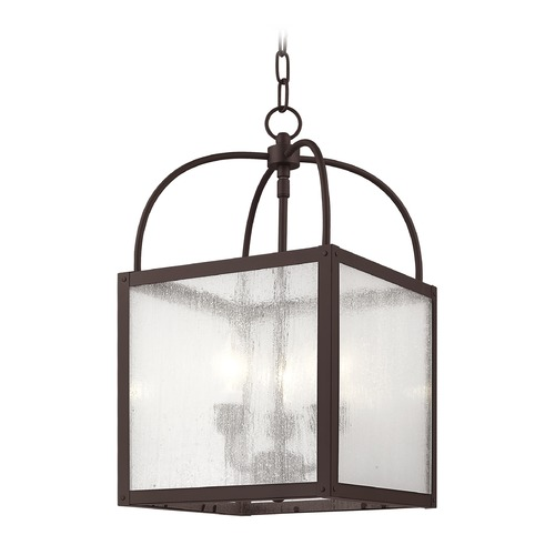 Livex Lighting Livex Lighting Milford Bronze Pendant Light with Square Shade 4055-07