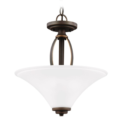 Sea Gull Lighting Sea Gull Lighting Metcalf Autumn Bronze Pendant Light with Coolie Shade 7713202-715