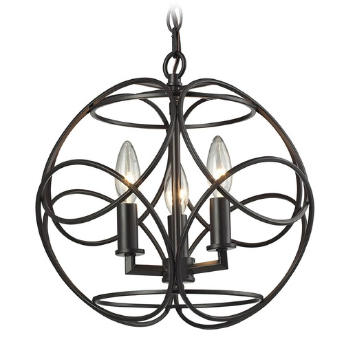 Elk Lighting Elk Lighting Chandette Oil Rubbed Bronze Pendant Light 31811/3