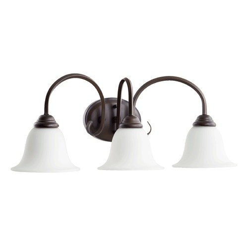 Quorum Lighting Quorum Lighting Spencer Oiled Bronze Bathroom Light 5110-3-186