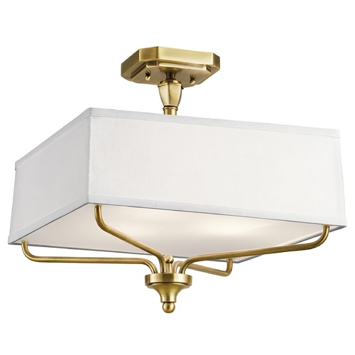 Kichler Lighting Kichler Lighting Arlo Natural Brass Semi-Flushmount Light 43309NBR