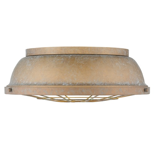 Golden Lighting Golden Lighting Bartlett Copper Patina Flushmount Light 7312-FM16CP