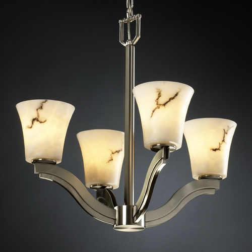 Justice Design Group Justice Design Group Lumenaria Collection Chandelier FAL-8970-20-NCKL