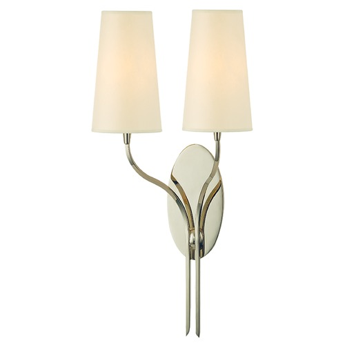 Hudson Valley Lighting Rutland 2 Light Sconce - Polished Nickel 3712-PN