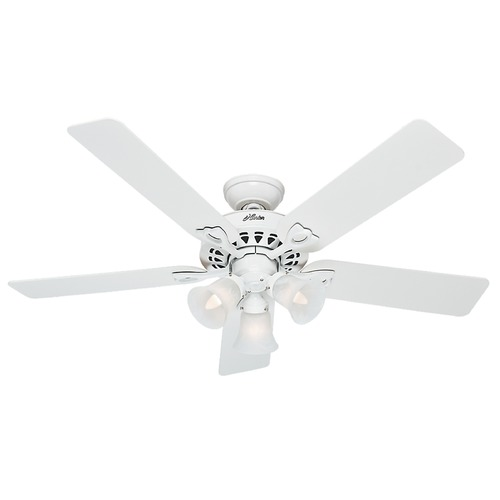 Hunter Fan Company Hunter Fan Company the Sontera White Ceiling Fan with Light 53114