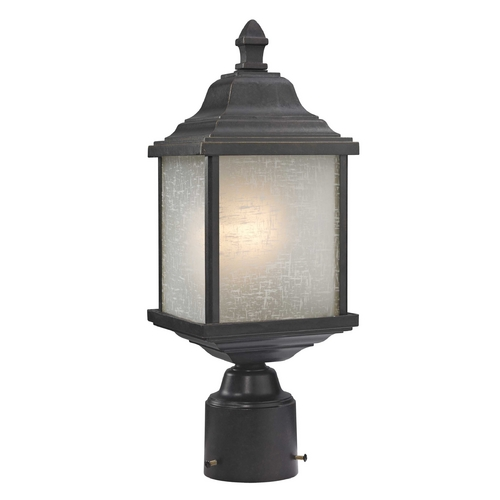 Dolan Designs Lighting Outdoor Post Light with White Linen Glass 932-68