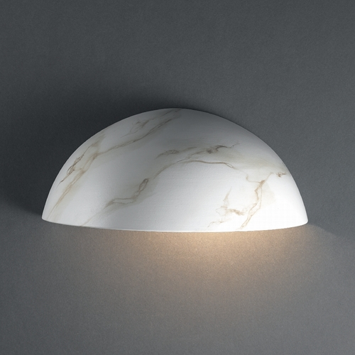 Justice Design Group Outdoor Wall Light in Carrara Marble Finish CER-1300W-STOC