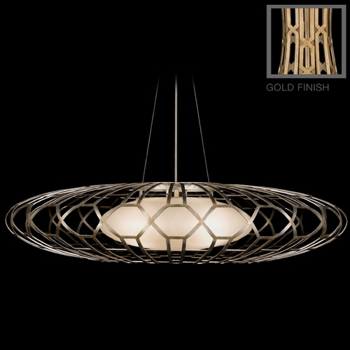 Fine Art Lamps Fine Art Lamps Allegretto Gold Burnished Gold Leaf with Subtle Brown Highlights Pendant Light with O 798540-2ST