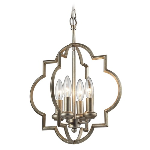 Elk Lighting Elk Lighting Chandette Aged Silver Pendant Light 31802/4