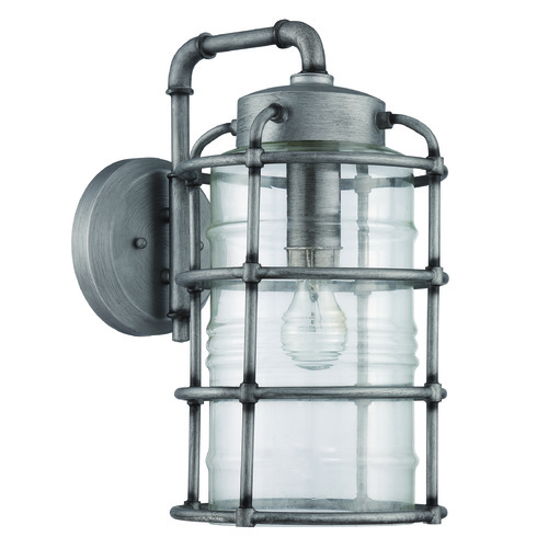 Craftmade Lighting Craftmade Lighting Hadley Aged Galvanized Outdoor Wall Light Z2134-16
