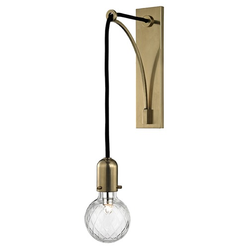 Hudson Valley Lighting Marlow 1 Light Sconce - Aged Brass 1101-AGB