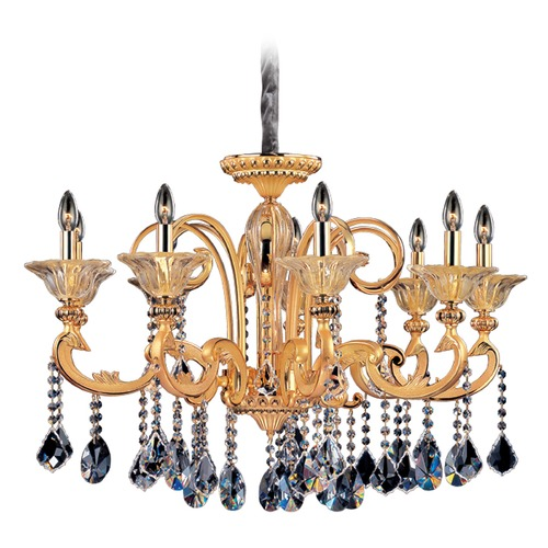 Allegri Lighting Legrenzi 9 Light Crystal Chandelier w/ Two-Tone Gold 24k 10459-016-FR001