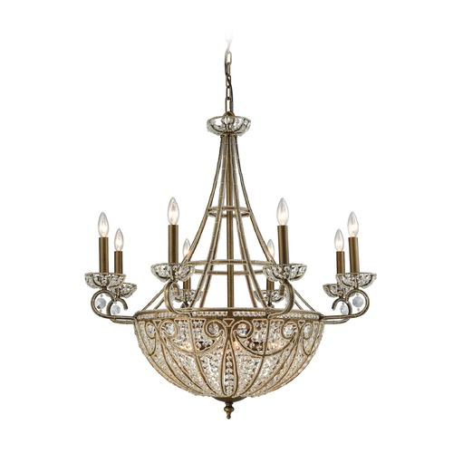 Elk Lighting Elk Lighting Elizabethan Dark Bronze Crystal Chandelier 15968/8+6
